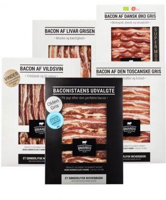 Baconsmagning - Forskellige typer bacon fra ØMANDS