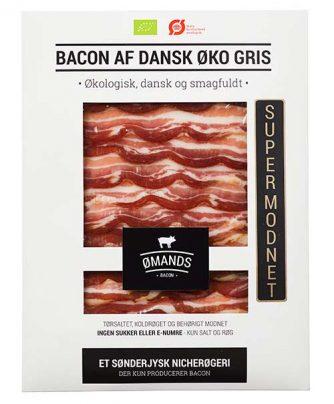 Bacon af dansk økologisk gris fra ØMANDS