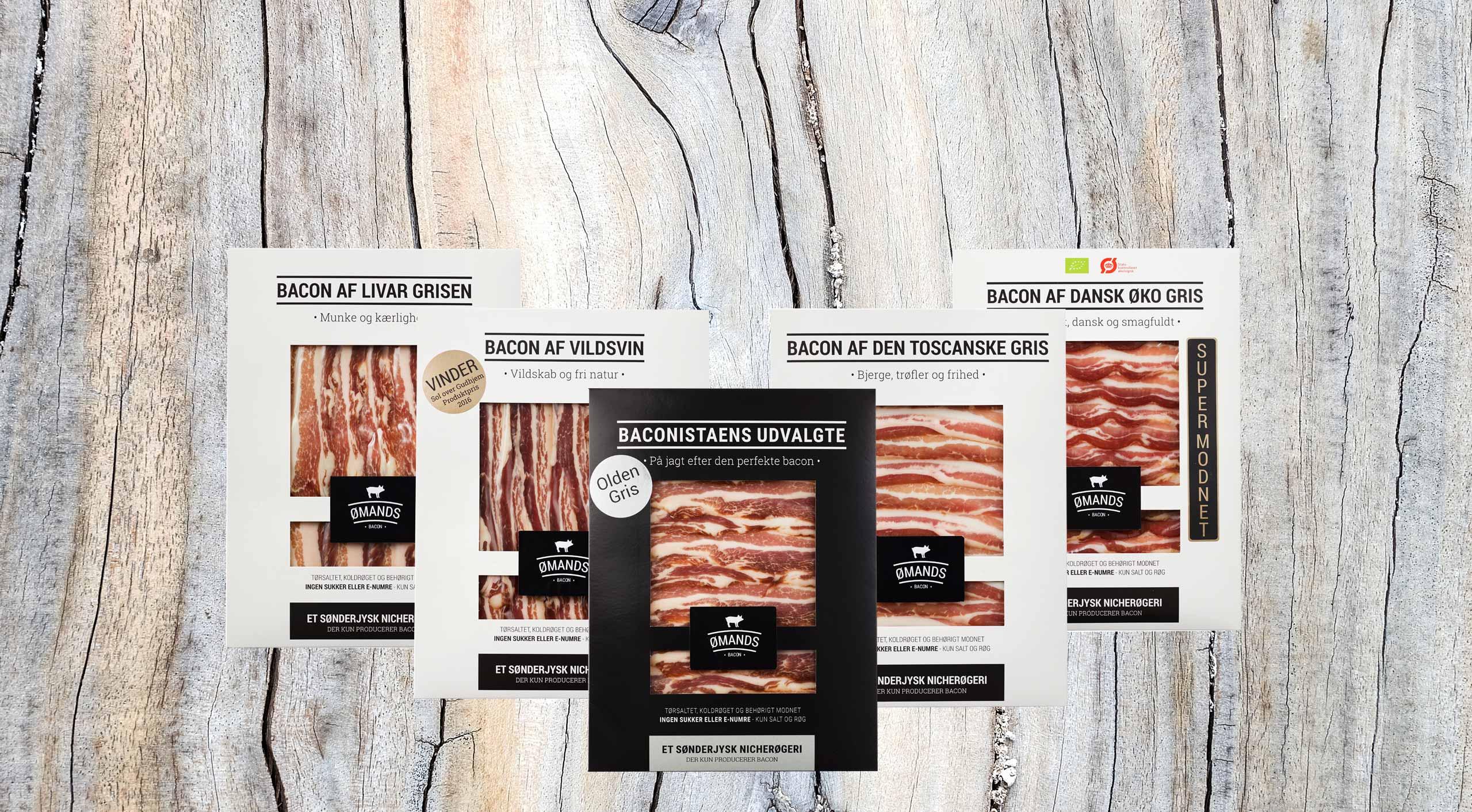 Bacon af livargrisen, vildsvin, toscanske gris, dansk økologisk gris og oldengrisen