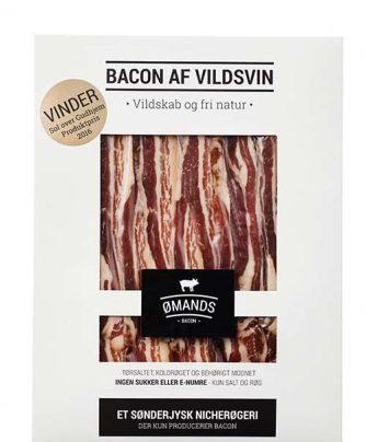Bacon af vildsvin fra ØMANDS